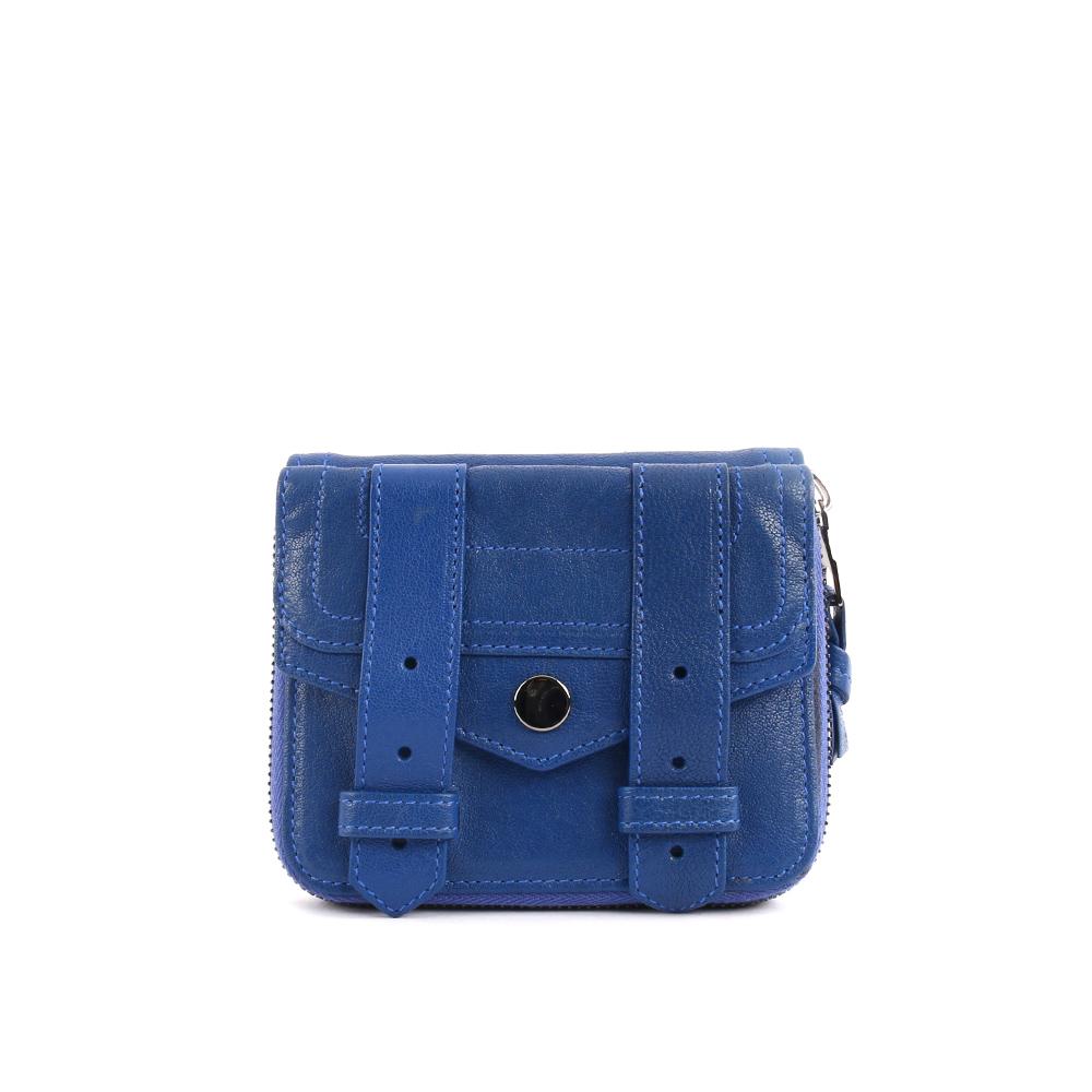 【PROENZA SCHOULER】小羊皮 短夾 (電子藍 )