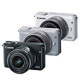 CANON EOS M10 + EF-M 15-45mm 單鏡組(公司貨)贈32G記憶卡+UV鏡+軟管小腳架+多功能讀卡機+清潔組+硬式保貼