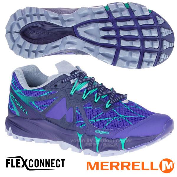 ~美國 MERRELL~女 AGILITY PEAK FLEX 戶外多 避震越野跑鞋.慢跑