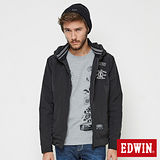 EDWIN 浮羽纖立領防寒外套-男-黑色