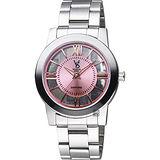 VOGUE 曼波系列鏤空藝術腕錶-粉x銀/38mm 9V1601-141S-P