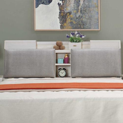 AT HOME-克里斯5尺雪杉白雙人床頭箱
