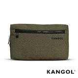 KANGOL 韓國經典側背休閒包/學生包/情侶包- 混織綠 KG1152