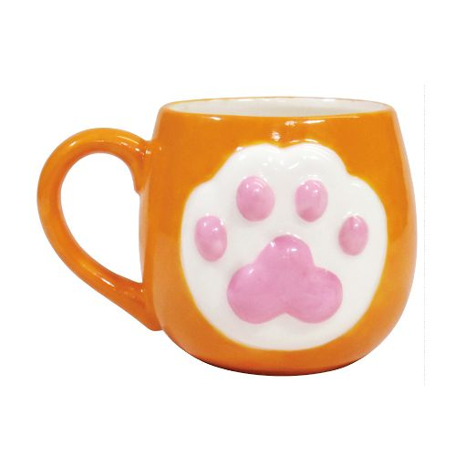 日本 sunart 馬克杯 - 橘貓 High five
