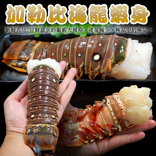 【築地一番鮮】蔚藍海-加勒比海龍蝦身2尾(220g/尾)免運組