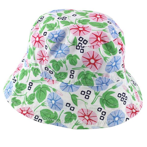 【愛的世界】牽牛花遮陽帽/寶寶帽/兒童帽/漁夫帽/44~46CM-台灣製-