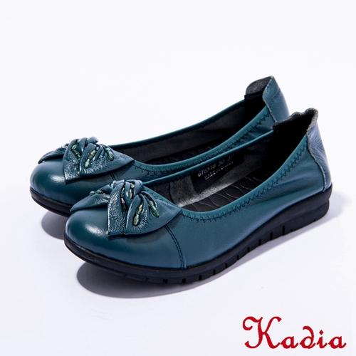 Kadia.舒適通勤 真皮蝴蝶結包鞋