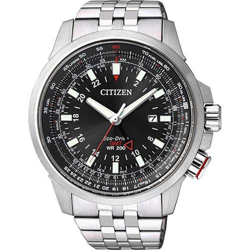 CITIZEN 星辰 Eco-Drive光動能時尚飛航時間腕錶/45mm/BJ7071-54E