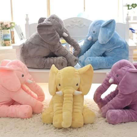 療癒系大象抱枕 安撫嬰兒絨毛娃娃靠枕