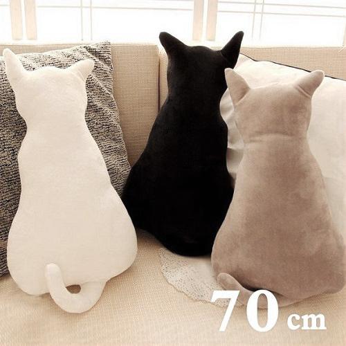 貓奴最愛-療癒系 貓咪背影大抱枕 (3色)