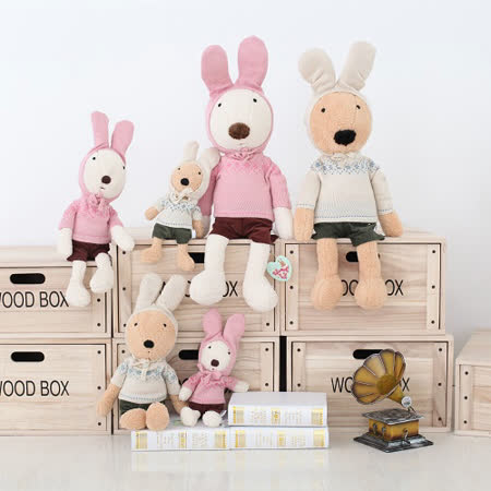 毛帽兔-Le Sucre砂糖兔 法國兔子布偶抱枕 娃娃禮物 65CM