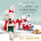 紅色斗篷兔-Le Sucre砂糖兔 法國兔子布偶抱枕 娃娃禮物 65CM