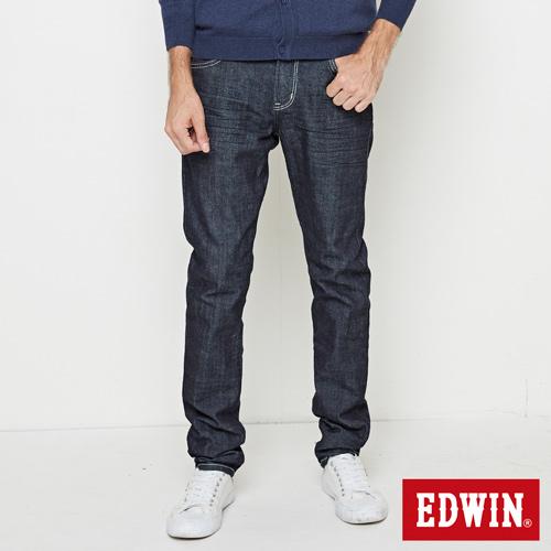 EDWIN EDGE斜袋窄管牛仔褲-男-原藍色