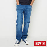 EDWIN 加大碼 迦績褲JERSEYS棉感直筒牛仔褲-男-漂淺藍