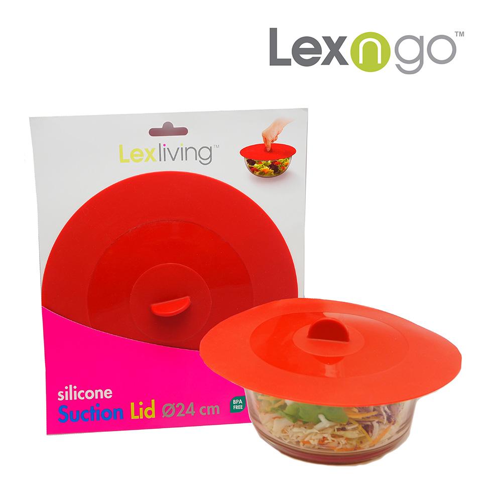 Lexliving矽膠氣密蓋24cm-紅色