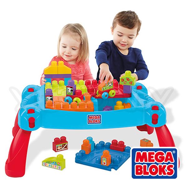 MEGA BLOKS 美高可收納趣味積木桌豪華組