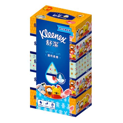 【舒潔】迪士尼溫和柔感盒裝面紙140抽(5盒x10串/箱)