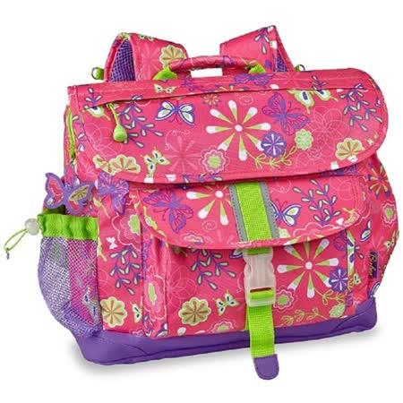 迷彩系列-彩蝶花園 中童輕量減壓背書包