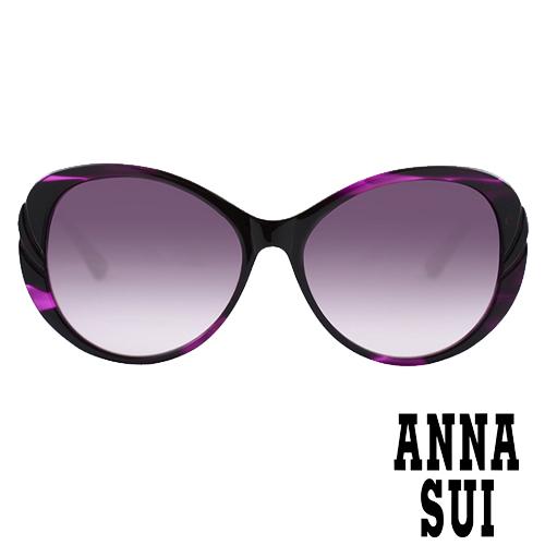 Anna Sui 日本安娜蘇 時尚立體玫瑰圖騰鏡框設計太陽眼鏡(紫色) AS925-708