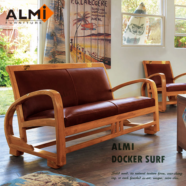 【ALMI】DOCKER SURF- 2 PLACES CUIR 雙人扶手椅