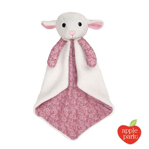 美國 Apple Park - 野餐好朋友系列 有機棉安撫巾禮盒 - 花瓣小羊