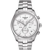 TISSOT 天梭 PR100 時尚三眼計時腕錶-銀/41mm T1014171103100