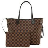 Louis Vuitton LV N41357 NEVERFULL GM 棋盤格紋子母束口購物包.大 現貨