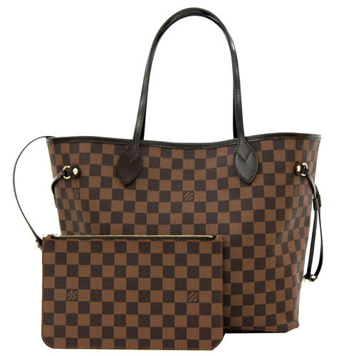 Louis Vuitton LV N41357 NEVERFULL GM 棋盤格紋子母束口購物包.大 _現貨
