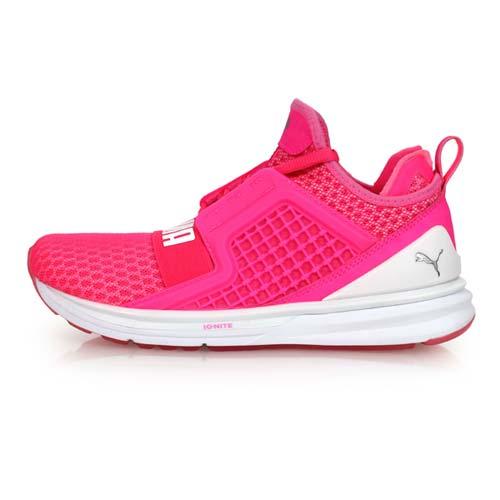 (女) PUMA IGNITE LIMITLESS休閒運動鞋-防水 中筒 WEEKND 螢光粉