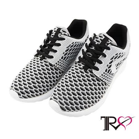 【TRS】透氣網布空氣增高鞋 ↑6cm 氣質灰-女鞋(7100-0028)
