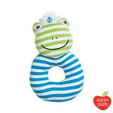 美國 Apple Park - 農場好朋友系列 有機棉 手搖鈴啃咬玩具 - 青蛙跳跳