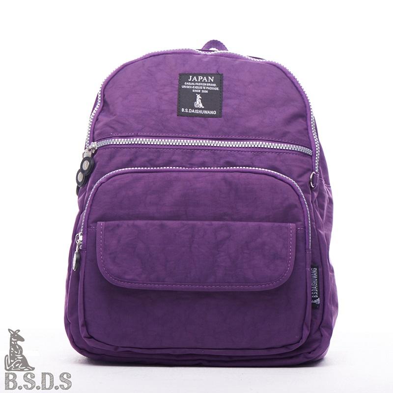 【B.S.D.S冰山袋鼠】草原詩集 - 日系防水布實搭後背包 - 俏皮紫【Z019PR】