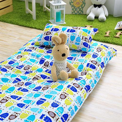 IN HOUSE-貓頭鷹派對-100%精梳棉200織紗-兒童睡袋