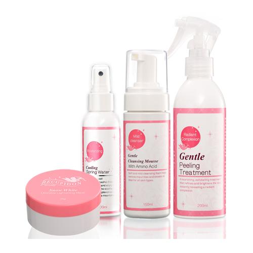 (即期品)BECUPIDON 比可比-輕鬆護膚保養品4件組