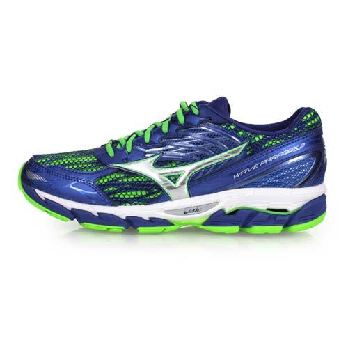 (男) MIZUNO WAVE PARADOX 3 慢跑鞋-路跑 健身 美津濃 藍綠