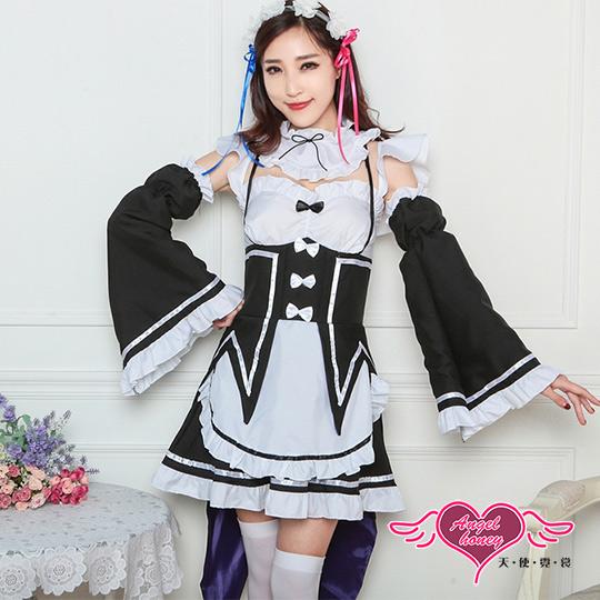 【天使霓裳】角色扮演 專屬服侍 甜美燕尾女僕制服表演服(黑F)