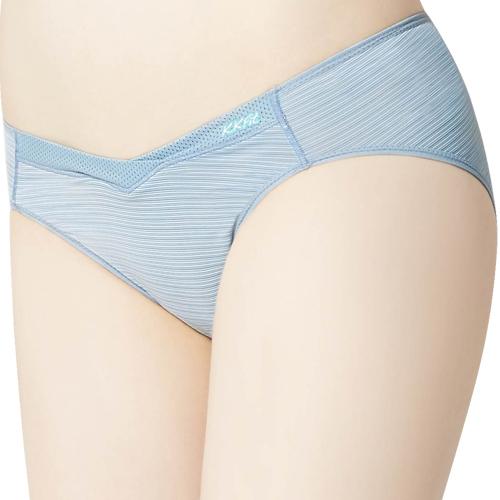 【思薇爾】K.K.Fit系列M-XXL素面低腰三角內褲(灰藍色)