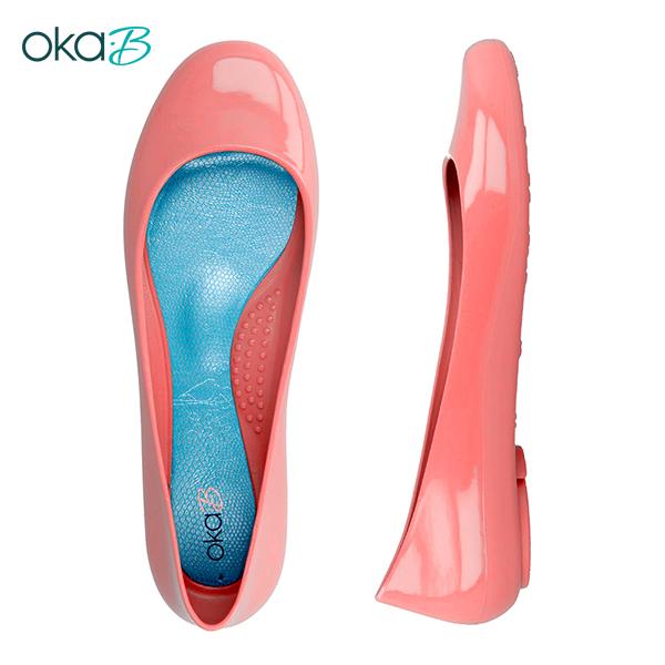 【OkaB】TAYLOR經典款亮面娃娃鞋/包鞋 粉紅(k0524TA-LPI)