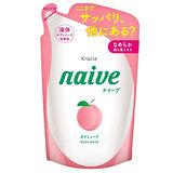 日本Kracie娜艾菩植物性沐浴精補充包【水蜜桃】380ml