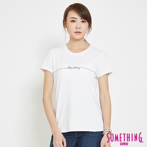 SOMETHING 愛心LOGOT恤-女-白色