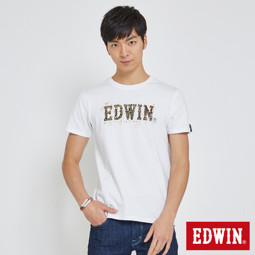 EDWIN 數碼電路LOGO短袖T恤-男-白色