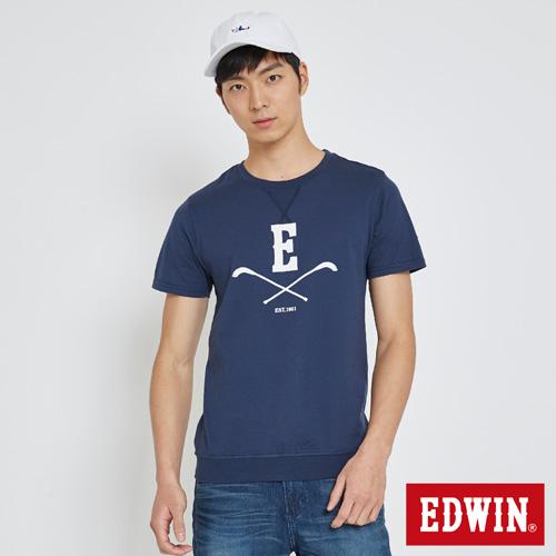 EDWIN 曲棍球校園短袖T恤-男-丈青