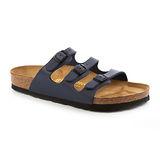 勃肯BIRKENSTOCK 054751。FLORIDA 佛羅里達 三條復古拖鞋(深藍)
