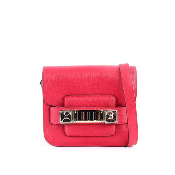 【PROENZA SCHOULER】TINY款 超mini小牛皮 PS11(金釦)洋紅色)