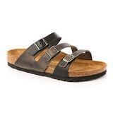 勃肯BIRKENSTOCK 086961。FLORIDA 佛羅里達 三條復古拖鞋(鐵灰)