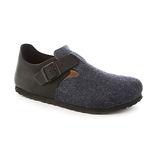 勃肯BIRKENSTOCK 166583。LONDON倫敦 扣帶休閒鞋(黑藍搭色)