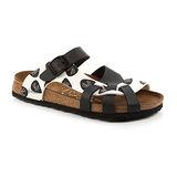 Papillio 376603。APISA比薩 編織涼鞋(黑白)