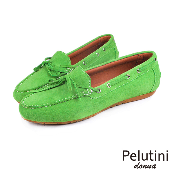 【Pelutini】donna麂皮休閒鞋/ 女鞋 草綠(8334W-GRS)