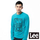 Lee 長袖T恤 單車玩具模型膠印-男款(藍綠)