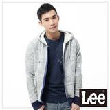 Lee 連帽外套 絨毛內裡連帽拉鍊-男款(灰)